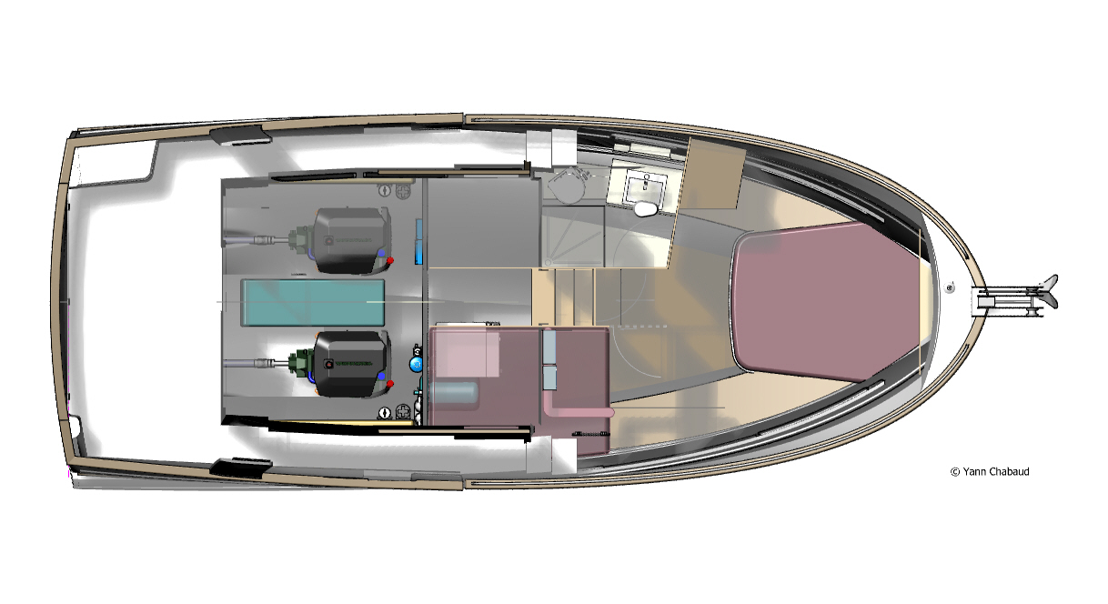 34 Trawler Lower Deck