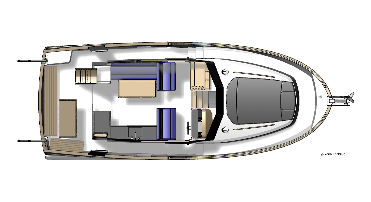 34 Trawler Upper Deck