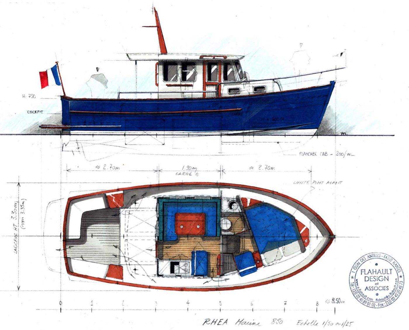 Rhea 850 Timonier Diagram